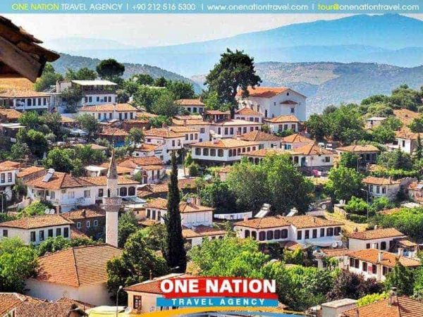 Sirince village is near the ancient ruins of Ephesus and the cosmopolitan holiday resort of Kusadasi on the Aegean coast of Turkey